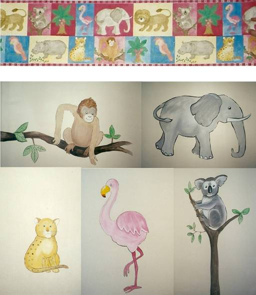 wallpaper borders for nursery. For a safari theme nursery,